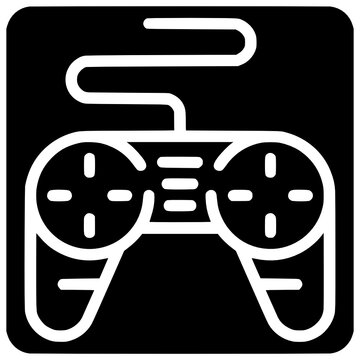 joystick control icon outline style vector Outline, Black, Joystick, Icon, Control, Design, Technology, Isolated, Vector, Console, Joypad, White