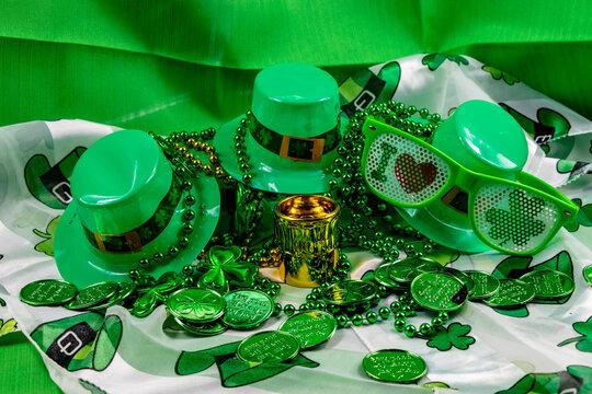 Colourful St. Patricks Day decorations. Calgary, alberta, Canada
