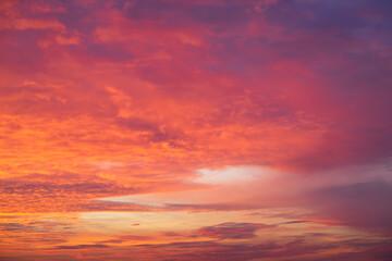 Red golden sunset
