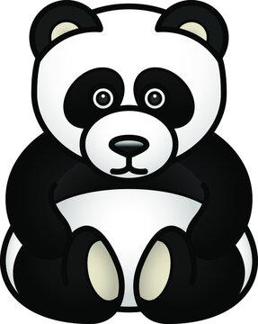 A cute stuffed panda bear.