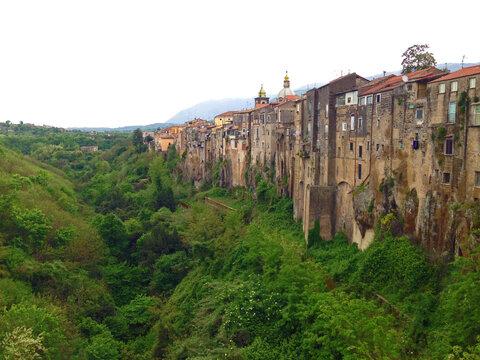 Sant Agata de Goti Italy outer wall