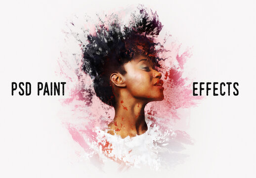 Painting Photo Effect Mockup
