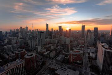 Fototapeta Cityscape Sunset