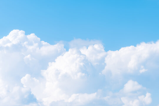 Beautiful cirrus clouds on blue sky on a sunny day background texture. wallpaper skybox