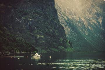 Wall Mural - Dramatic Norwegian Fjord Landscape