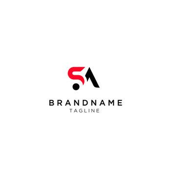 Alphabet letters Initials Monogram logo SA, SA, s  and a