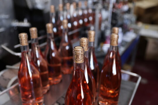 Wine bottles are seen at Tura Winery in Rehelim, an Israeli settlement in the occupied-West Bank