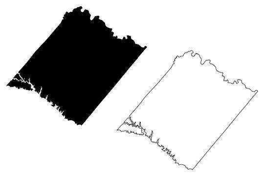 Spotsylvania County, Commonwealth of Virginia (U.S. county, United States of America, USA, U.S., US) map vector illustration, scribble sketch Spotsylvania map