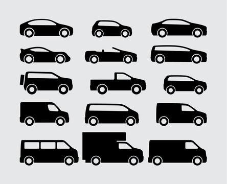 Vehicle Car Vector Icons Set