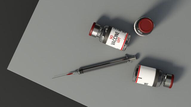 No corona vaccine left in hospital