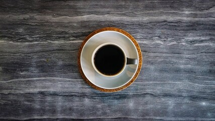 Directly Above Shot Of Black Coffee On Table