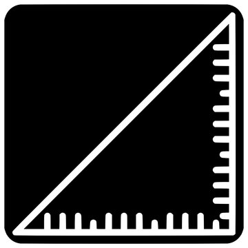 square ruler icon outline style vector Outline, Black, Square, Ruler, Icon, Education, Design, Isolated, Vector, Business, Engineering, Drafting
