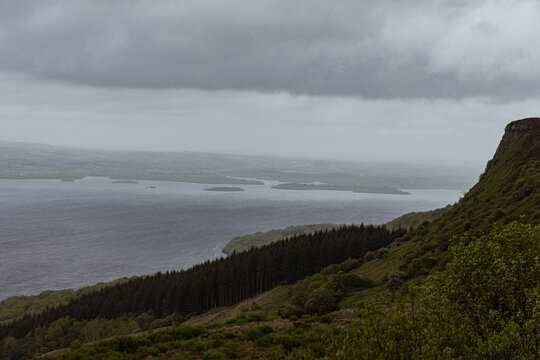 Magho viewpoint, Lower Lough Erne, Navar forest drive, Lakeland, County Fermanagh, Northern Ireland