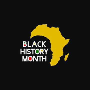 Black history month celebrations design template.