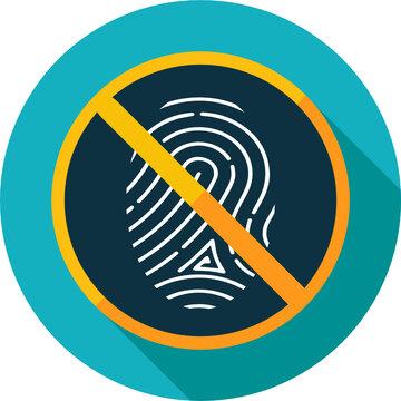 Vector icon. Leaves no fingerprints.
