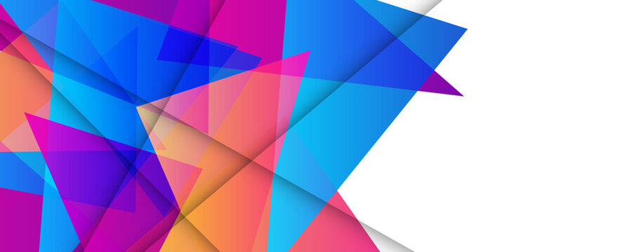 Trendy simple triangle blue purple orange color gradient abstract background with dynamic wave line effect. Vector Illustration For Wallpaper, Banner, Background, Card, Book Illustration, landing page