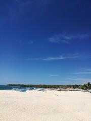 Fototapeta Scenic View Of Beach Against Blue Sky