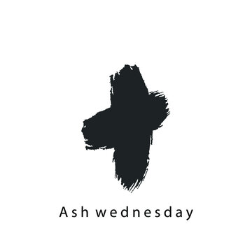 Ash Wednesday Vector Isolated White Background