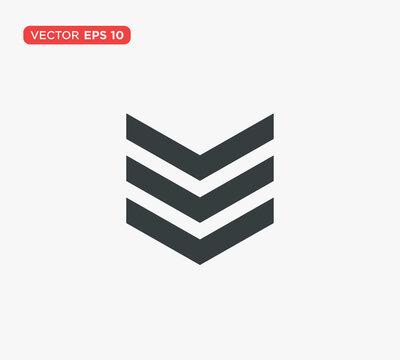 Military Rank Badge Emblem Icon Vector Illustration Design Editable Resizable EPS 10
