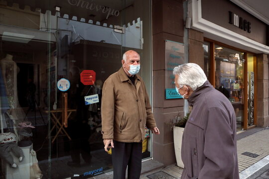 Lockdown in Mytilene to contain the spread of the coronavirus disease (COVID-19), on the island of Lesbos