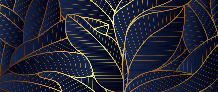 Luxury Gold leaf and natural background