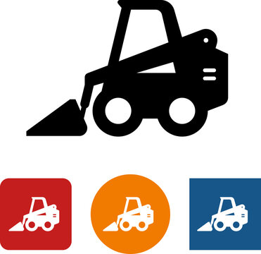 Skid Steer Loader Vector Icon