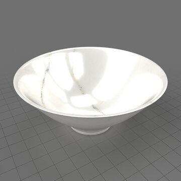 Round marble bowl