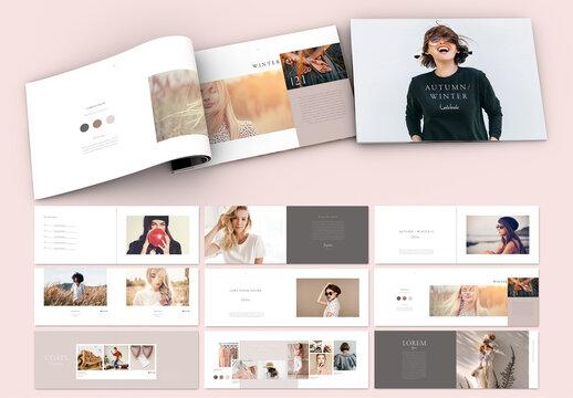 Minimal Style Nude Color Lookbook Layout