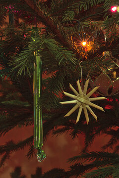 Christmas tree candy hanging on the Christmas tree