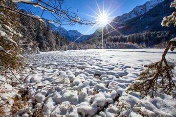 Winterlandschaft in Kleinarl am Jägersee