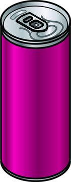 A generic unlabelled straight-sided aluminium drink can - 330/350/355/375 mL - 11.6/12.3/12.5/13.2 fl oz - 11.2/11.8/12/12.7 US fl oz.