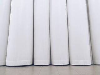 Full Frame Shot Of White Curtain - fototapety na wymiar