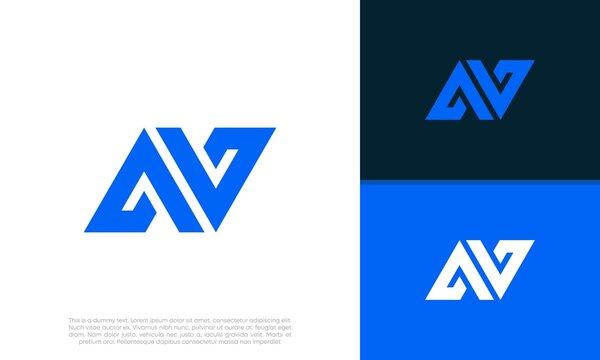 Abstract Initial logo vector. Initials A and V AV logo design. Initial Letter Logo.