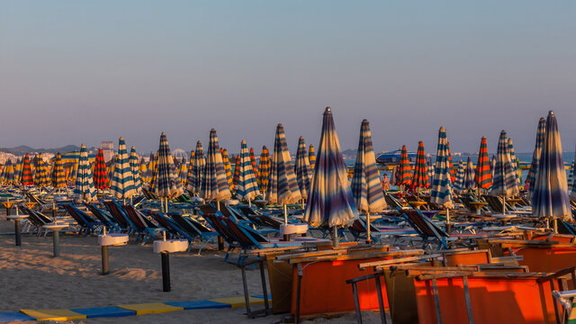 Panoramic View Of Boats Moored In Sea Against Clear Sky