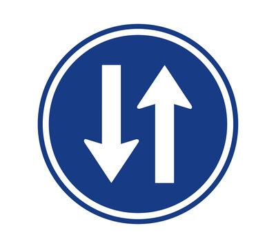 Two Way Street Traffic Sign Vector Illustration Design Editable Resizable EPS 10