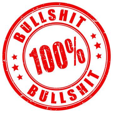 Bullshit vector stamp