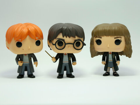 Funko Pop  Harry Potter, Ron Wesley and Hermione Granger