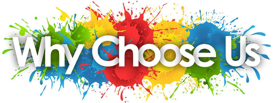 Why Choose Us in splash's background