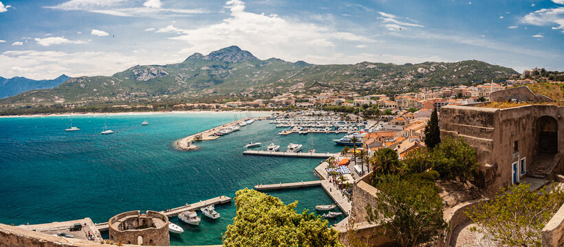 City of Calvi on Corse and the citadel of the city