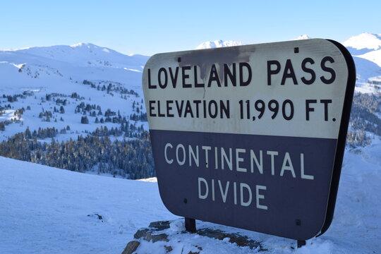 Loveland Pass - Continental Divide Sign