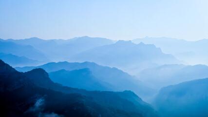 Scenic View Of Mountains Against Sky - fototapety na wymiar