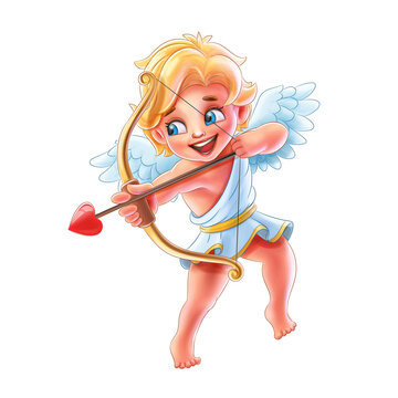 cupid characters with bow and arrow