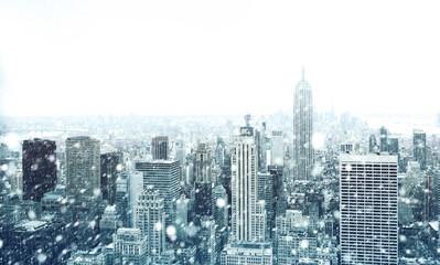 Fototapeta Winter in New York City