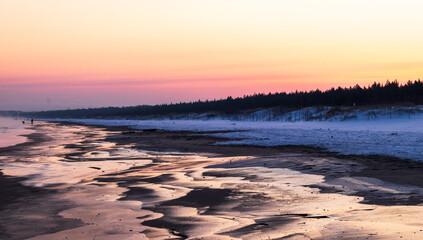 Fototapeta Wschód Słońca na Wyspie Sobieszewskiej obraz