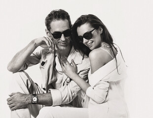Portrait of a calm, relaxed couple in a romantic mood