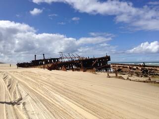 Ship wreck on beach