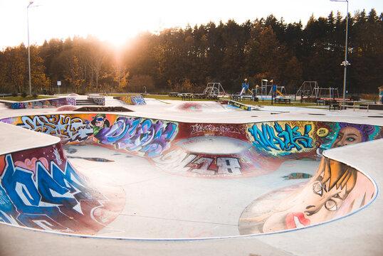 colorful skatepark