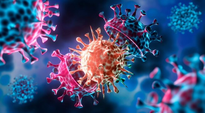 Coronavirus with Mutation - 3D visualization