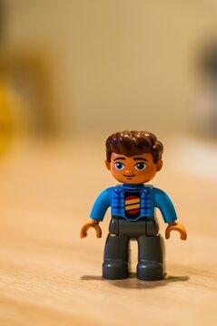 Lego Duplo man figurine.