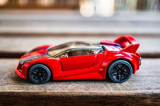 Mattel Hot Wheels red toy car.